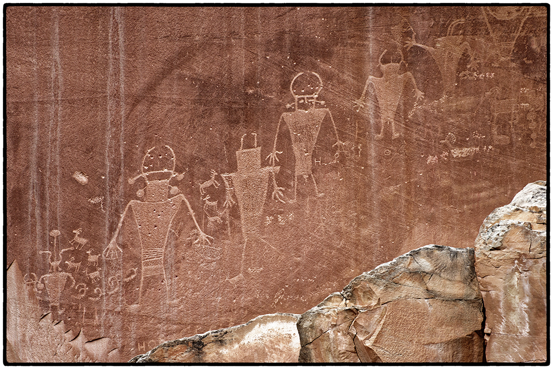 1300 Year Old Pictographs in Capitol Reef National Park, Utah