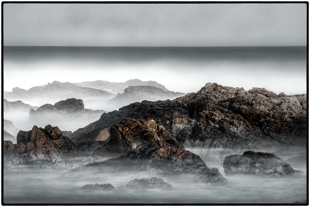 Early morning, waves and rocks, Asilomar Beach