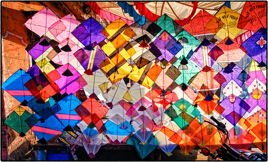 Sunlight Through Kites, Delhi