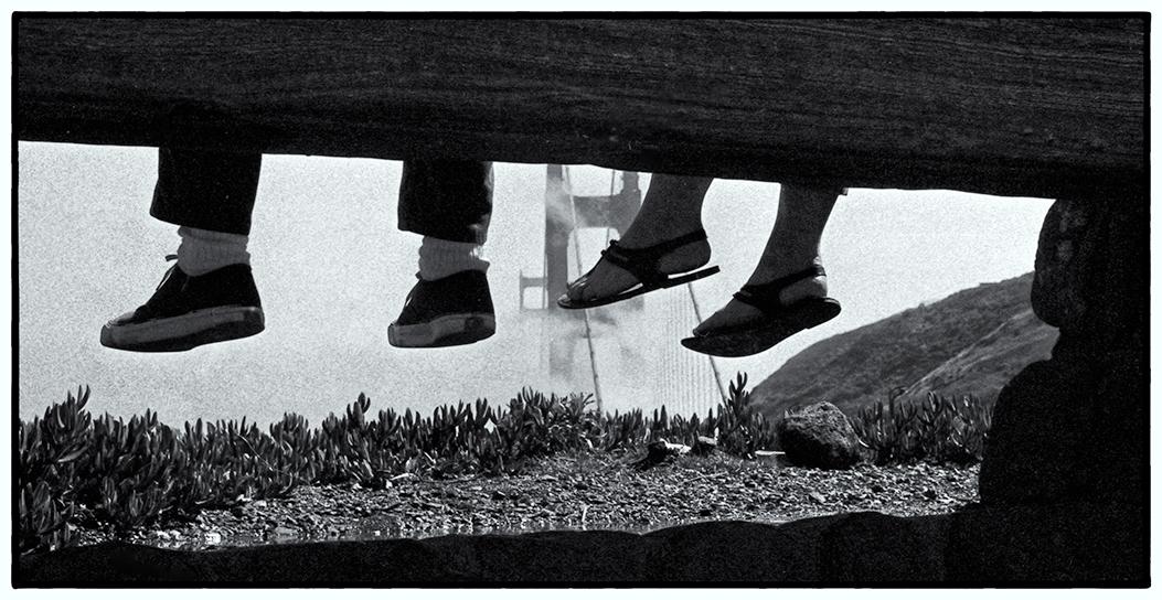 Feet, Fog, Golden Gate Bridge.  1969