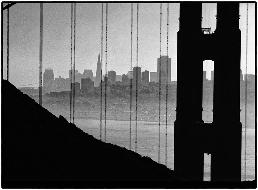 San Francisco through the Golden Gate Bridge