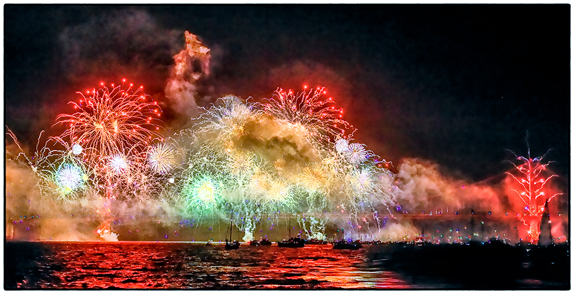 From a Tugboat, 75th Anniversary Fireworks 2012