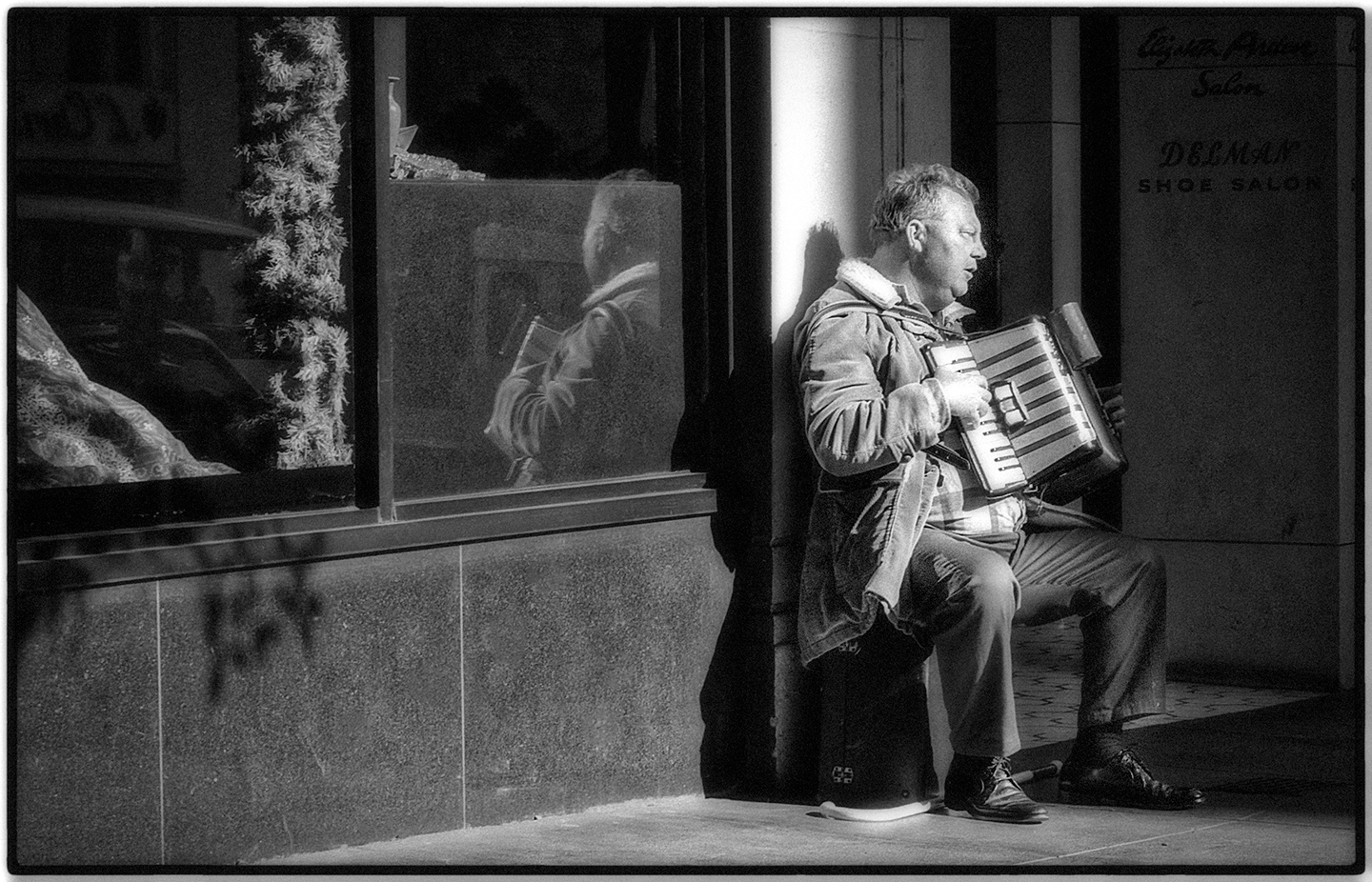 Blind Accordeian Player, San Francisco