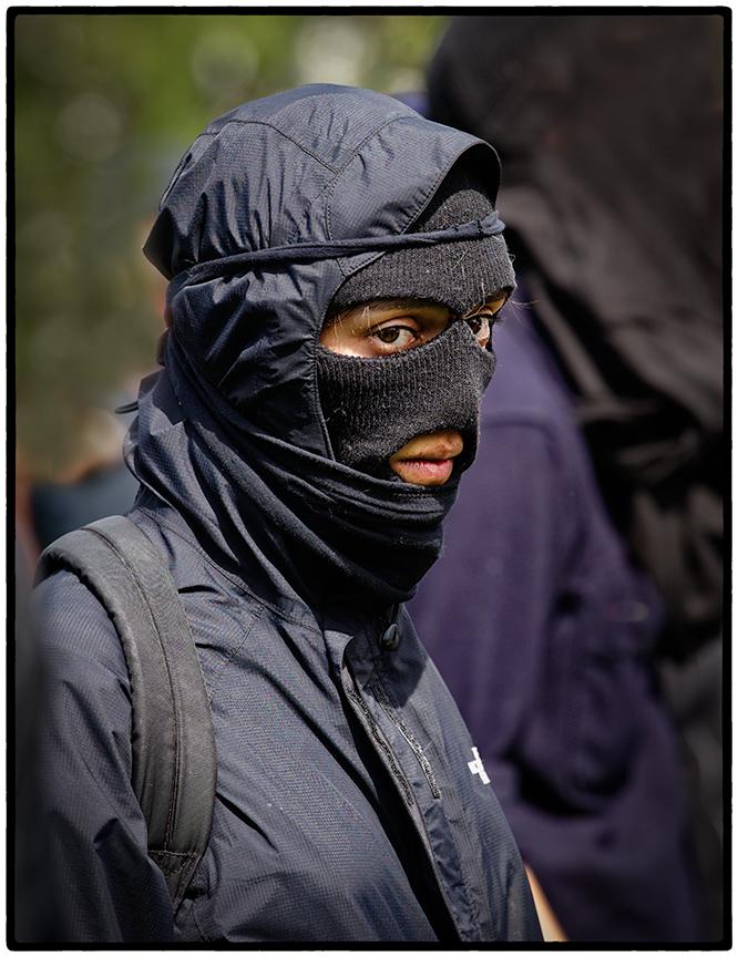 Protestor at Trump Rally, Berkeley 4/17