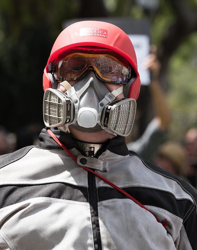 Trump Supporter, Alt-Right, Berkeley, 4/17