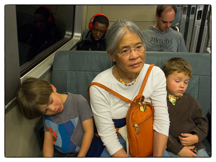 Riding BART is fun for all generations!