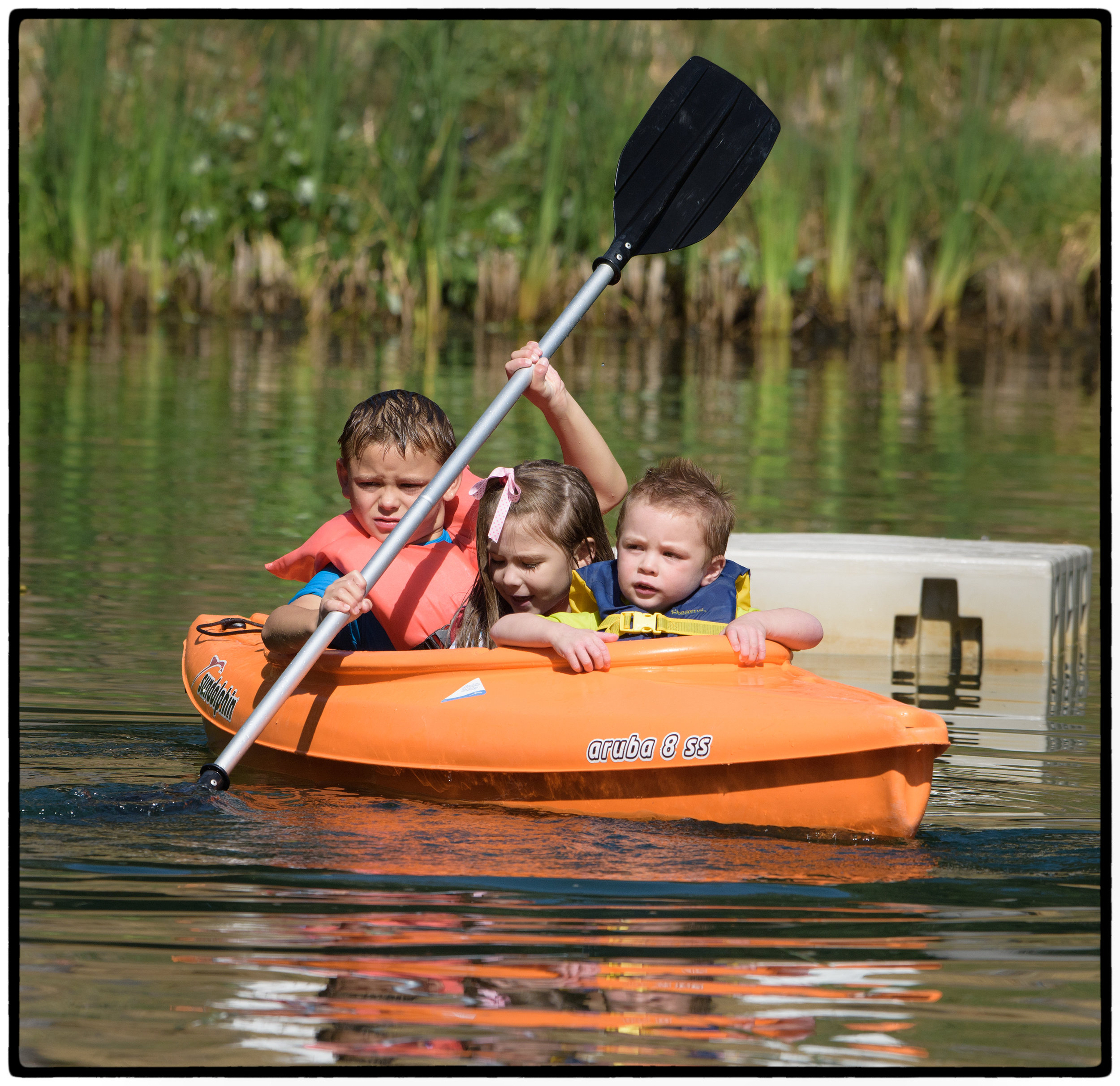 Hawthorn escorts his cousins in a kayak