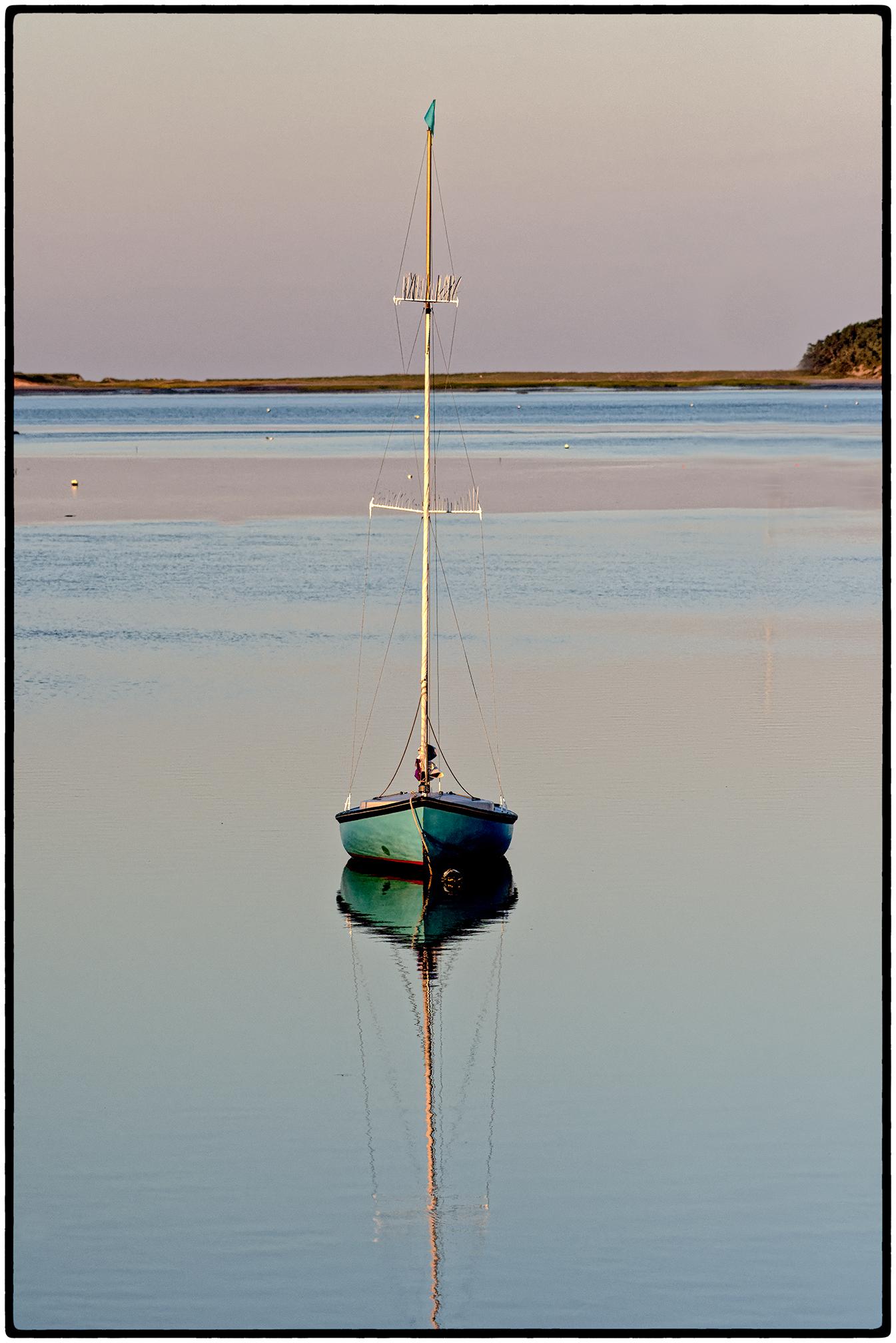 Sailboat at rest.  Wellfleet