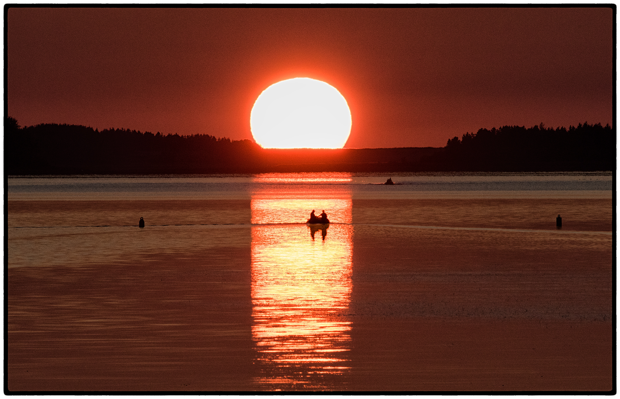 Sunset, Mabou harbor, Cape Breton Island