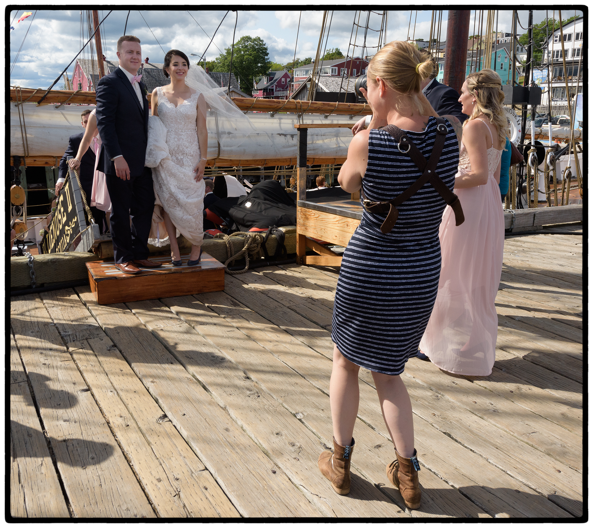 Wedding aboard the Bluenose.