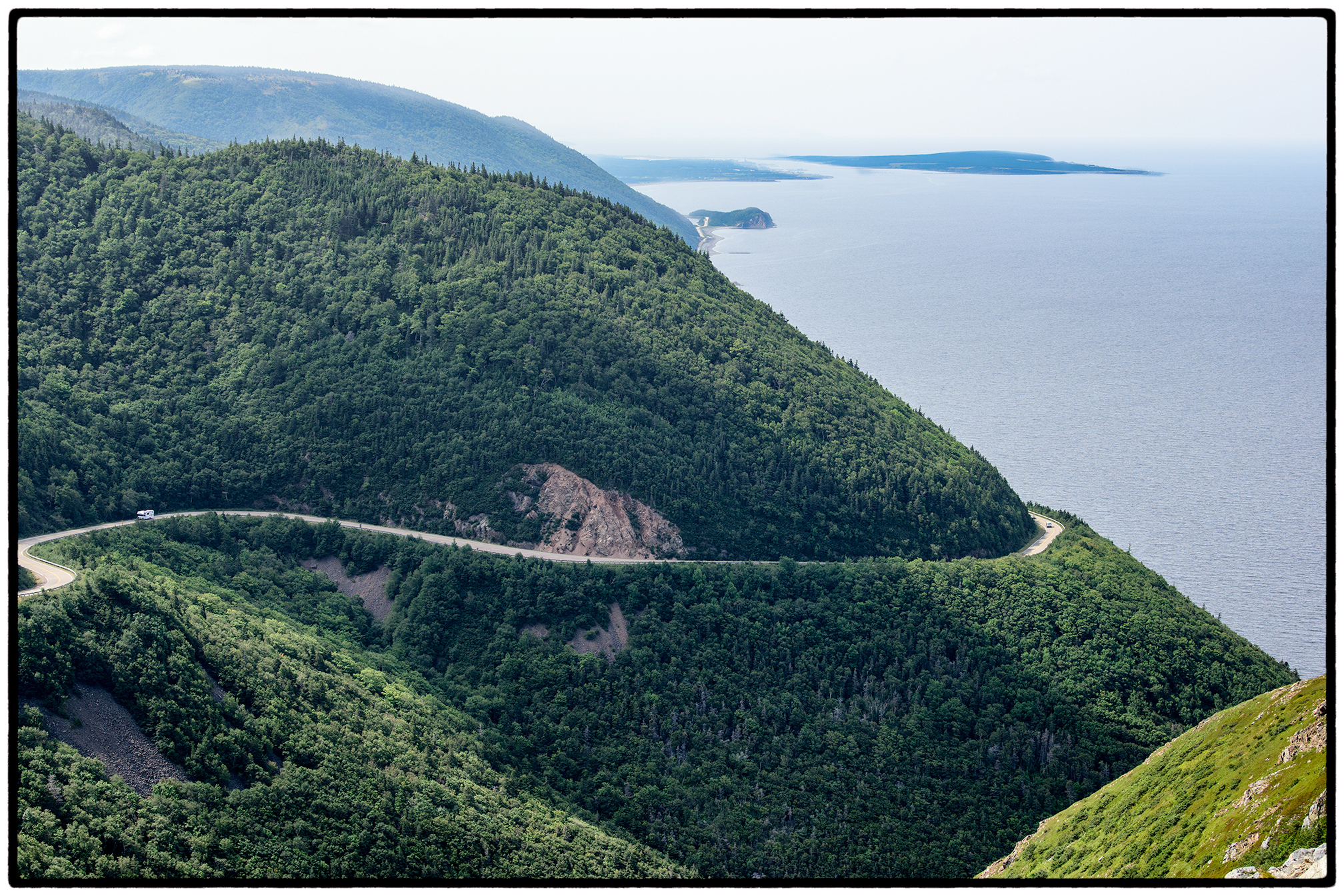 The payoff for a five mile hike on Cape Breton Island