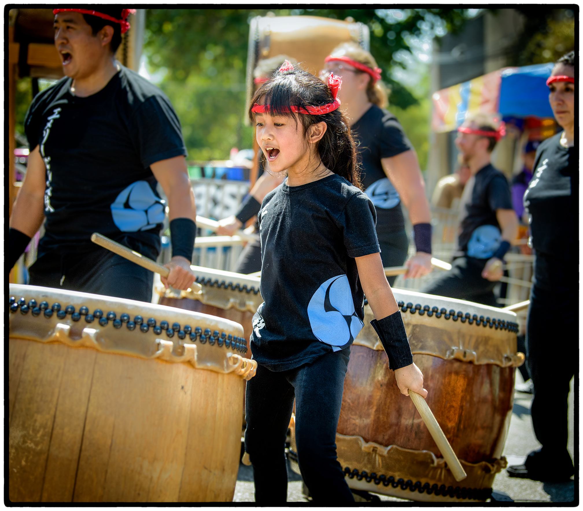 Taiko drummer, Solano Stroll 2017