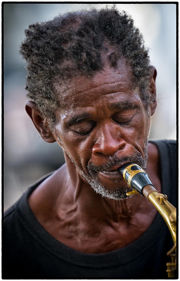 Street Musician, Garden District, New Orleans