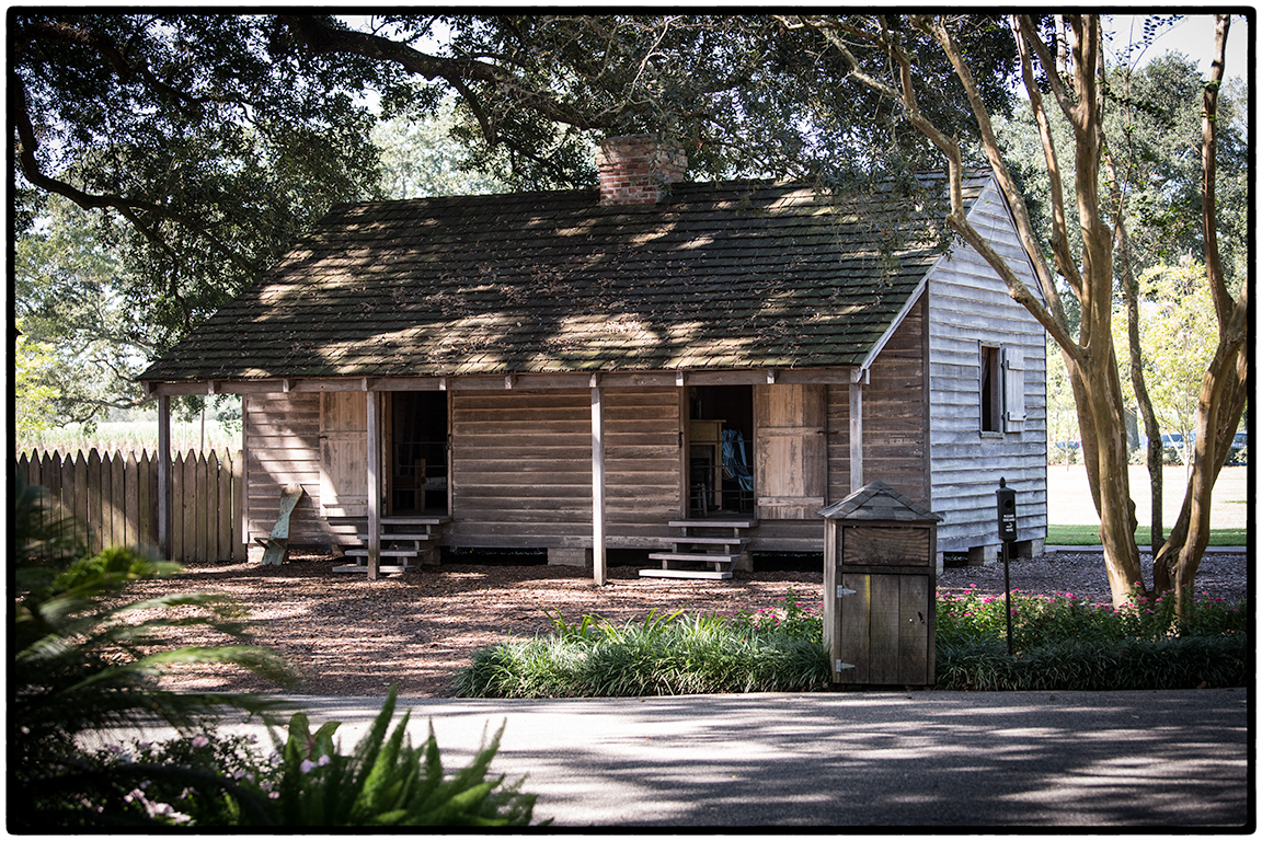 Rebuilt slave quarters, Oak Alley Plantation