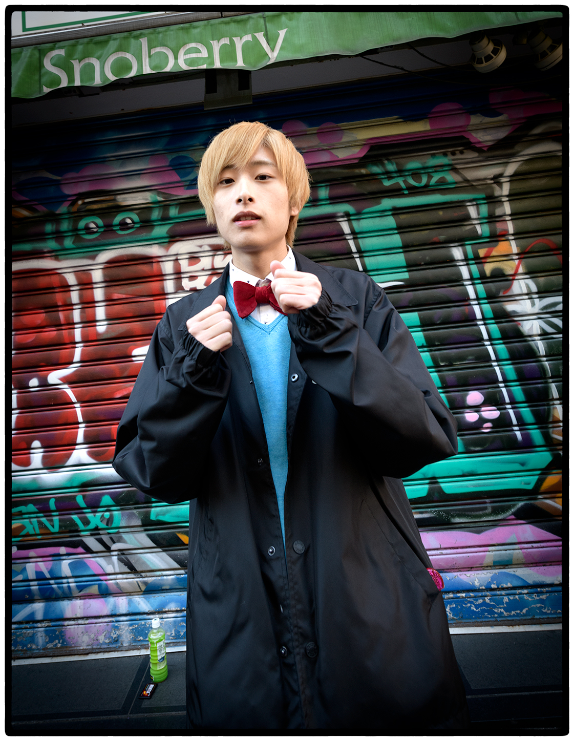 Adjusting His Tie, Tokyo