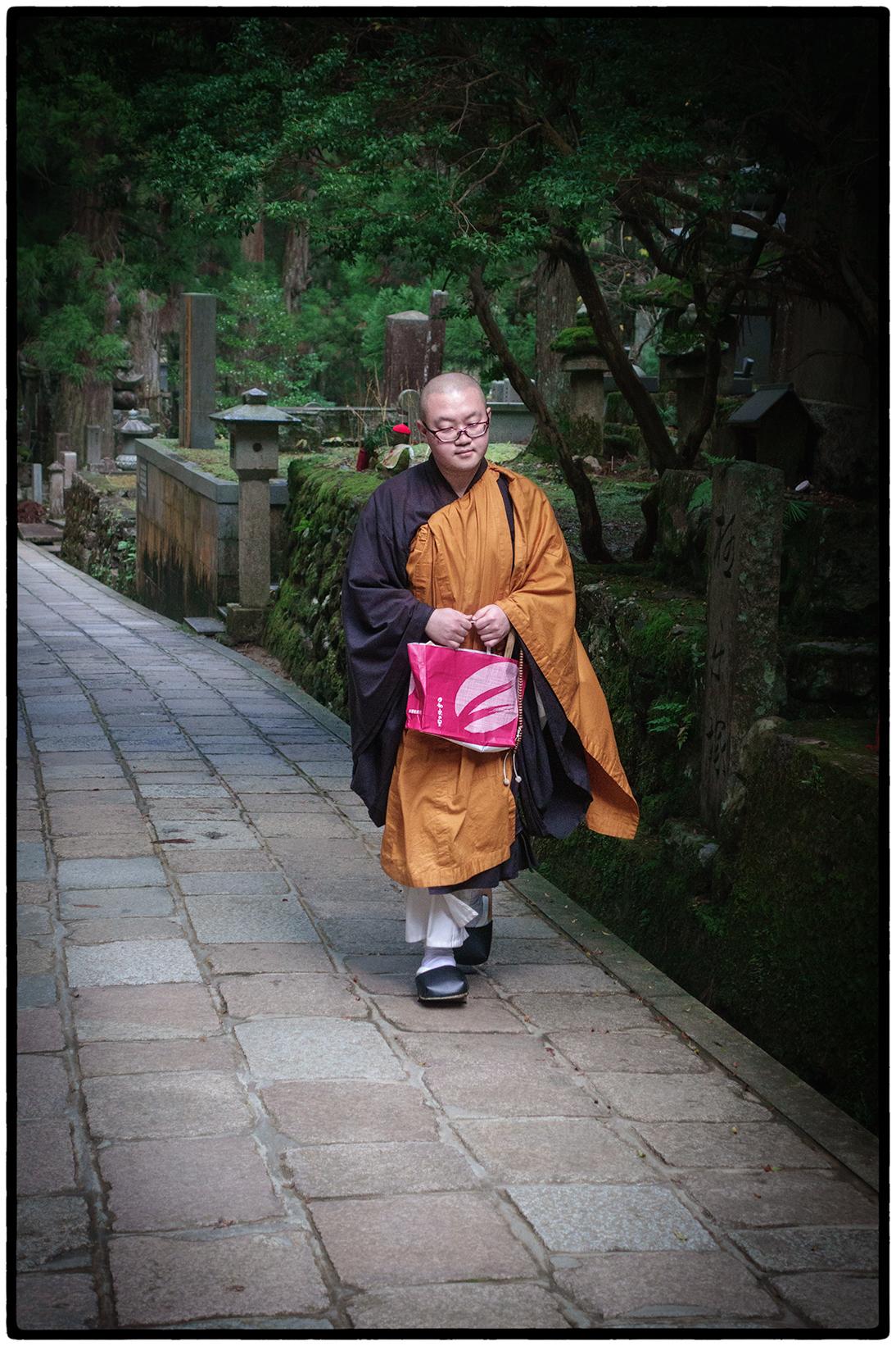 Monk in Cemetery