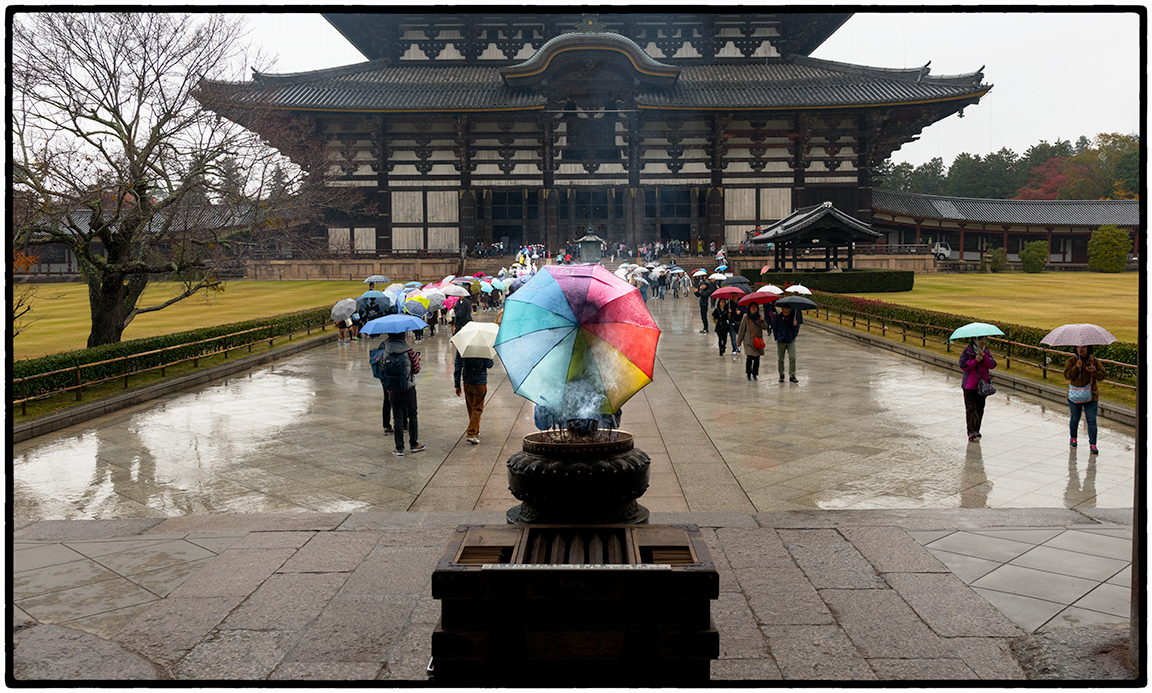 Todai-ji Buddhist Temple in the Rain
