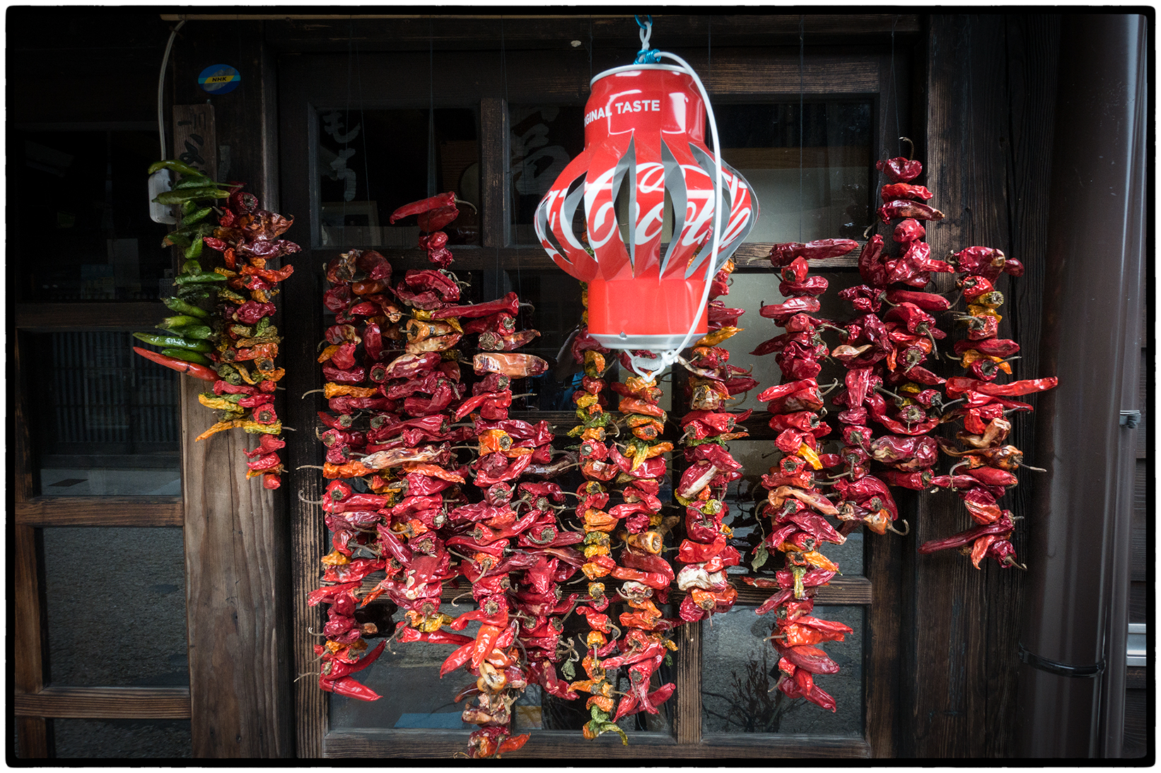 Drying peppers and a Coca-Cola Candle Holder