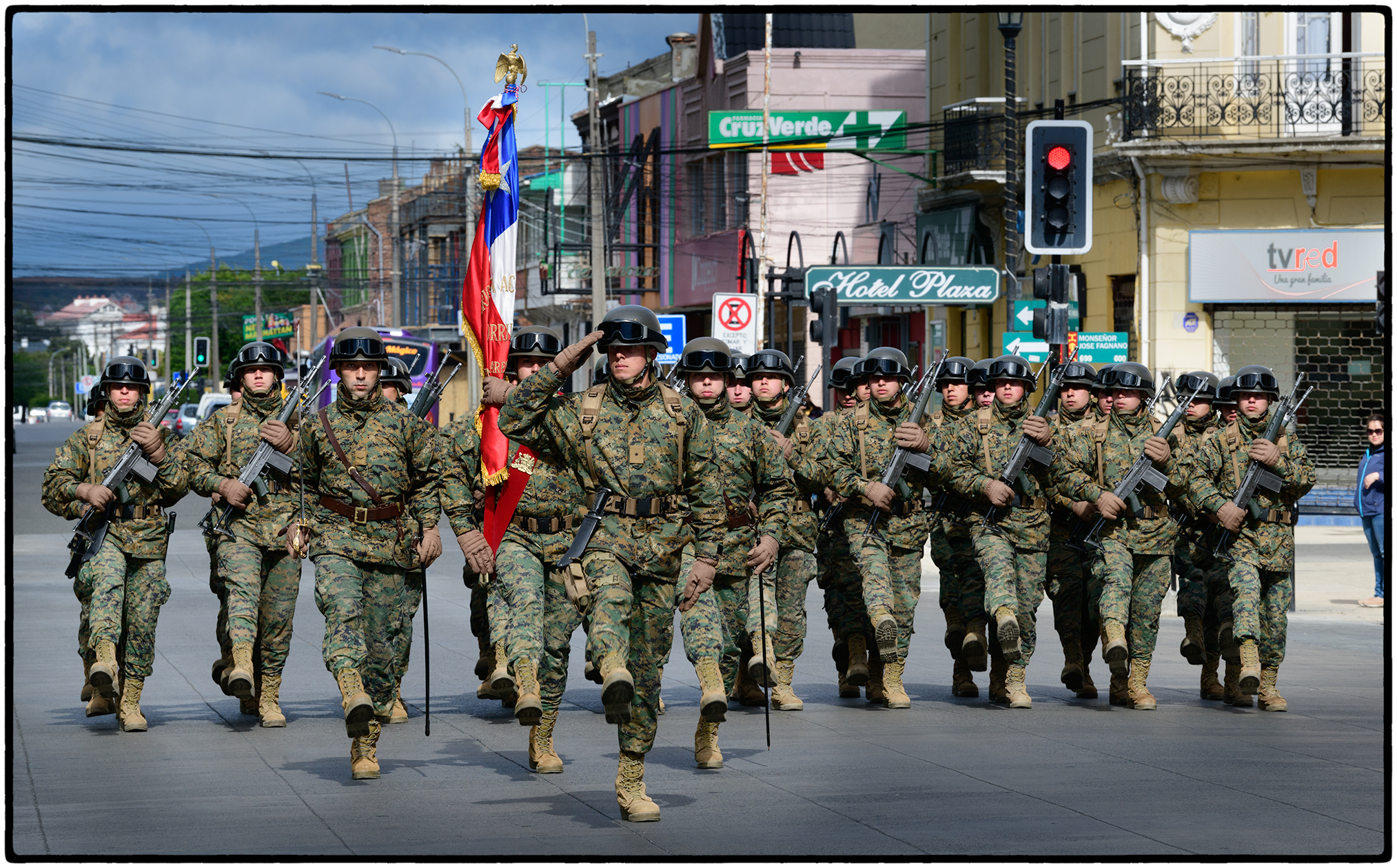 Raising the Flag, Punta Arenas