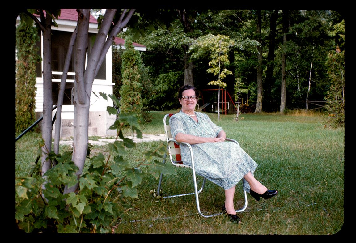 Dorothy Winkler Hopple at Pickerel Lake, Michigan