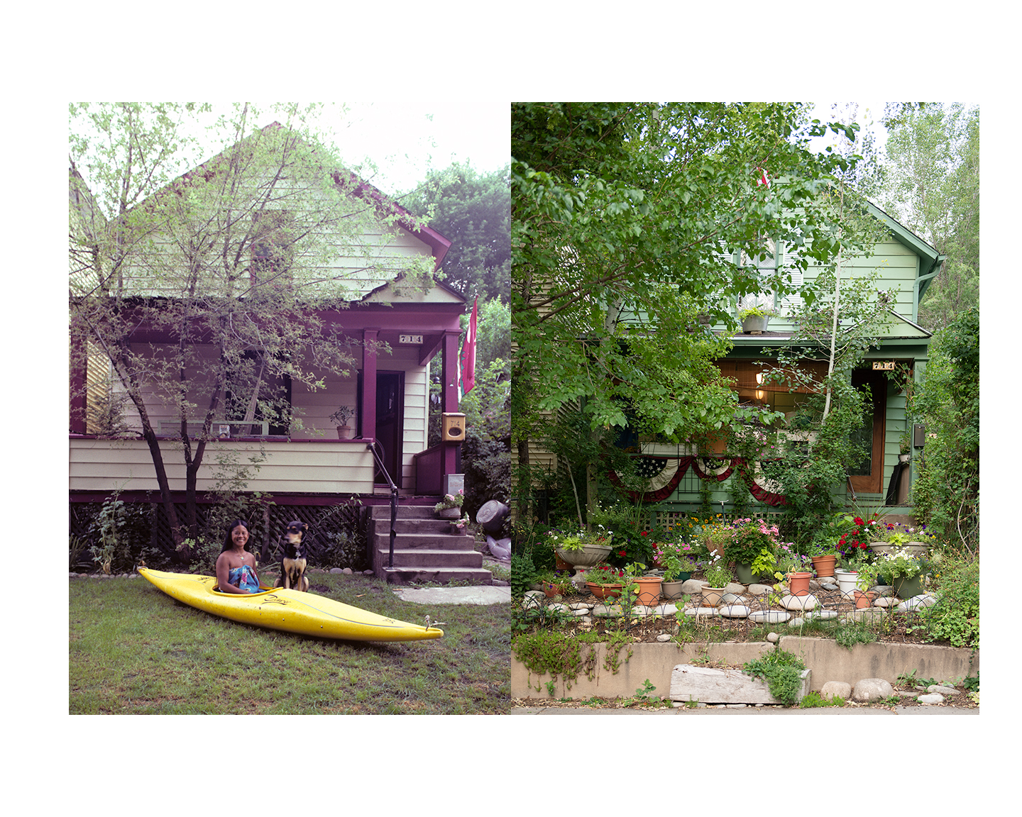 Thirty years.  Teeny's house then and now