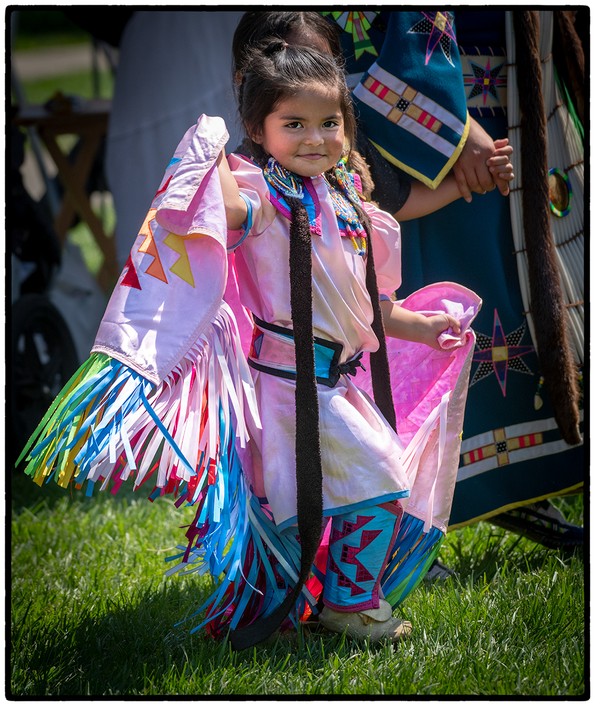 Native American dancer at Stockton PowWow 2018