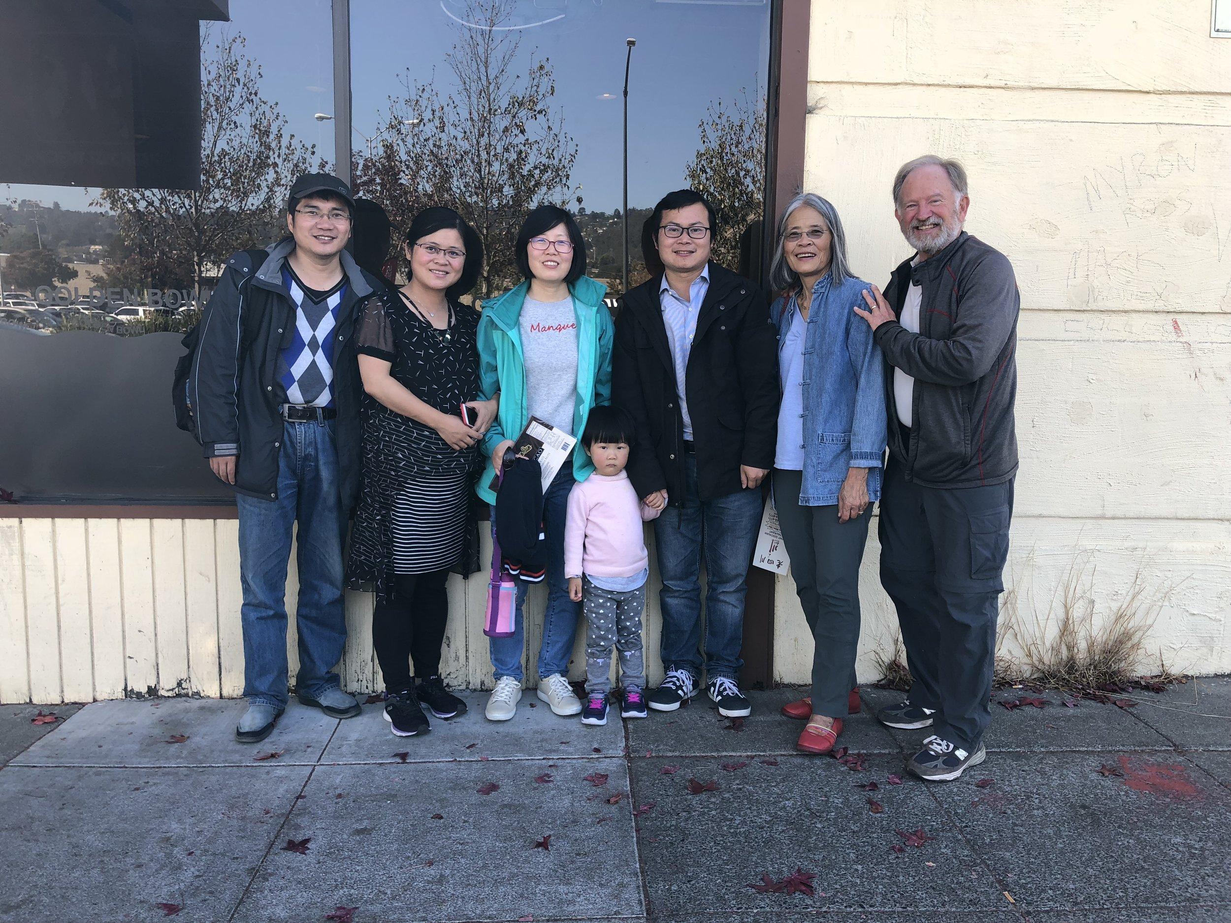 Danesh, Celia, YaZheng Ziyan. Zhong, Jadyne, and me