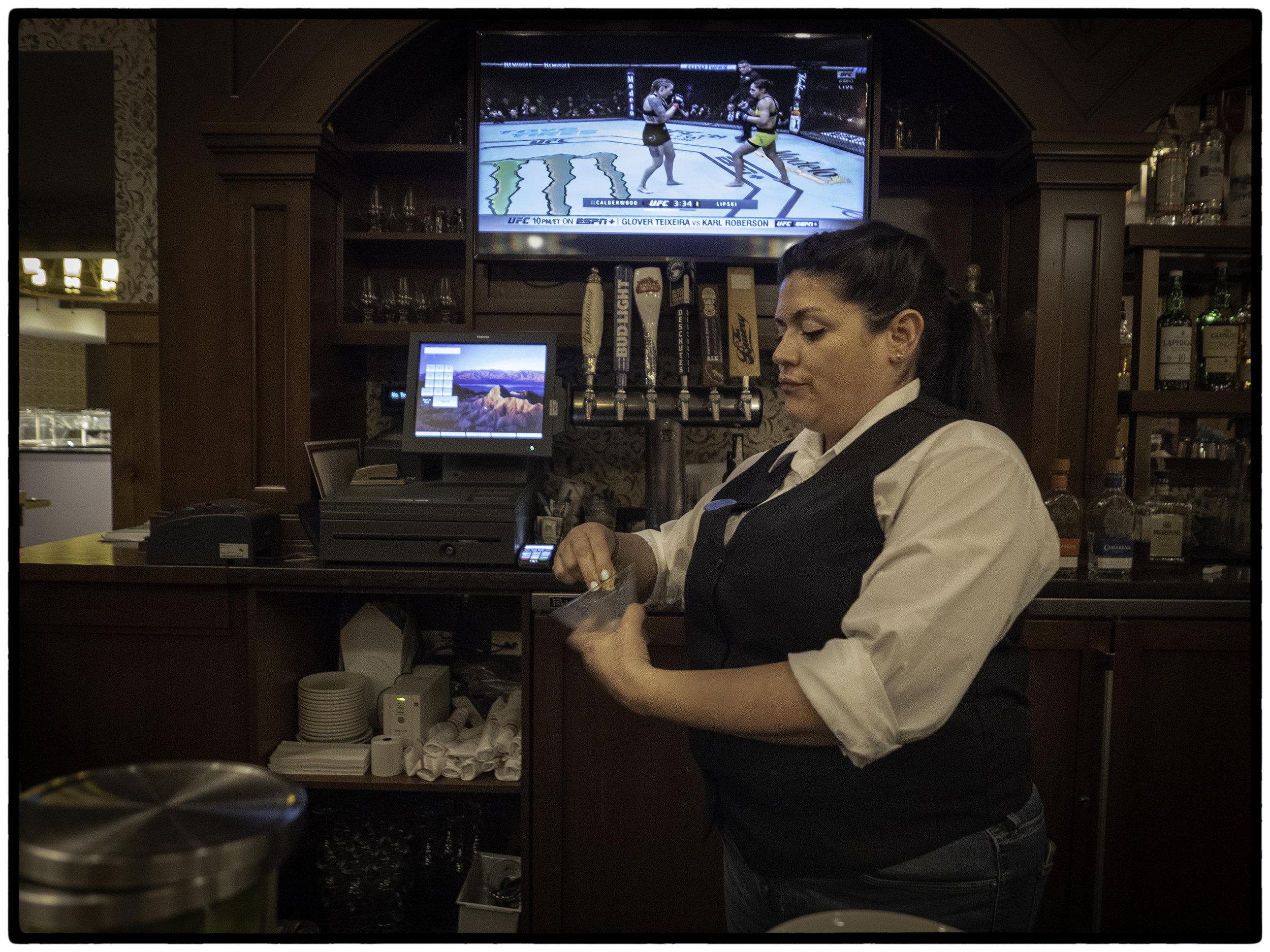 Bartender, UFC Match, Furnace Creek