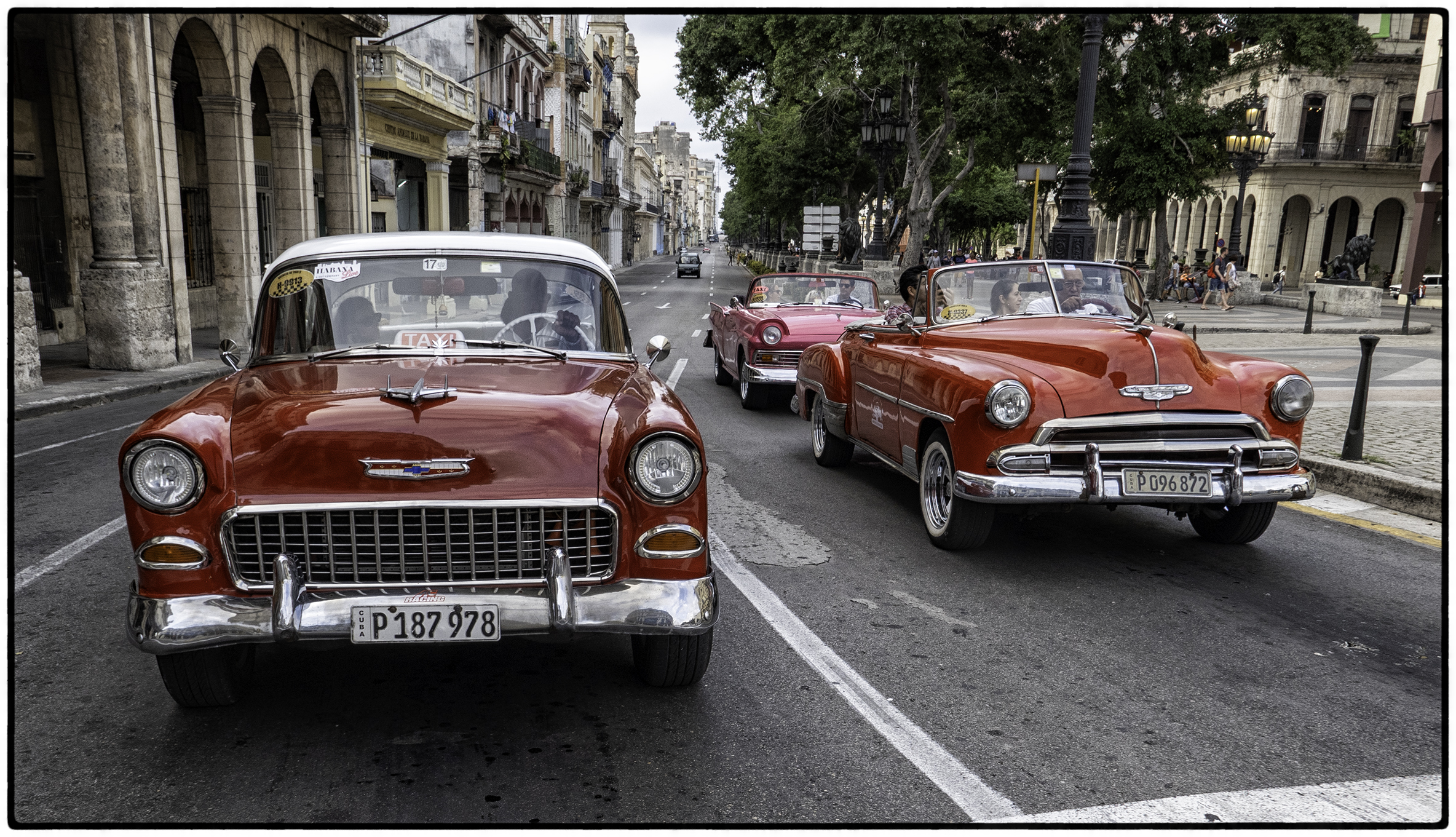1955 and 1952 Chevys, 1957 Ford