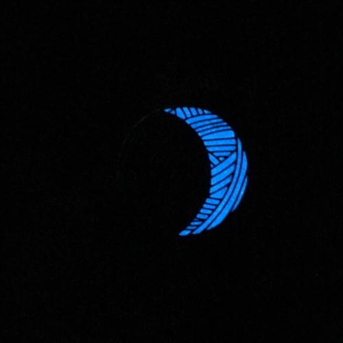 Blue glow powder + medium blue enamel