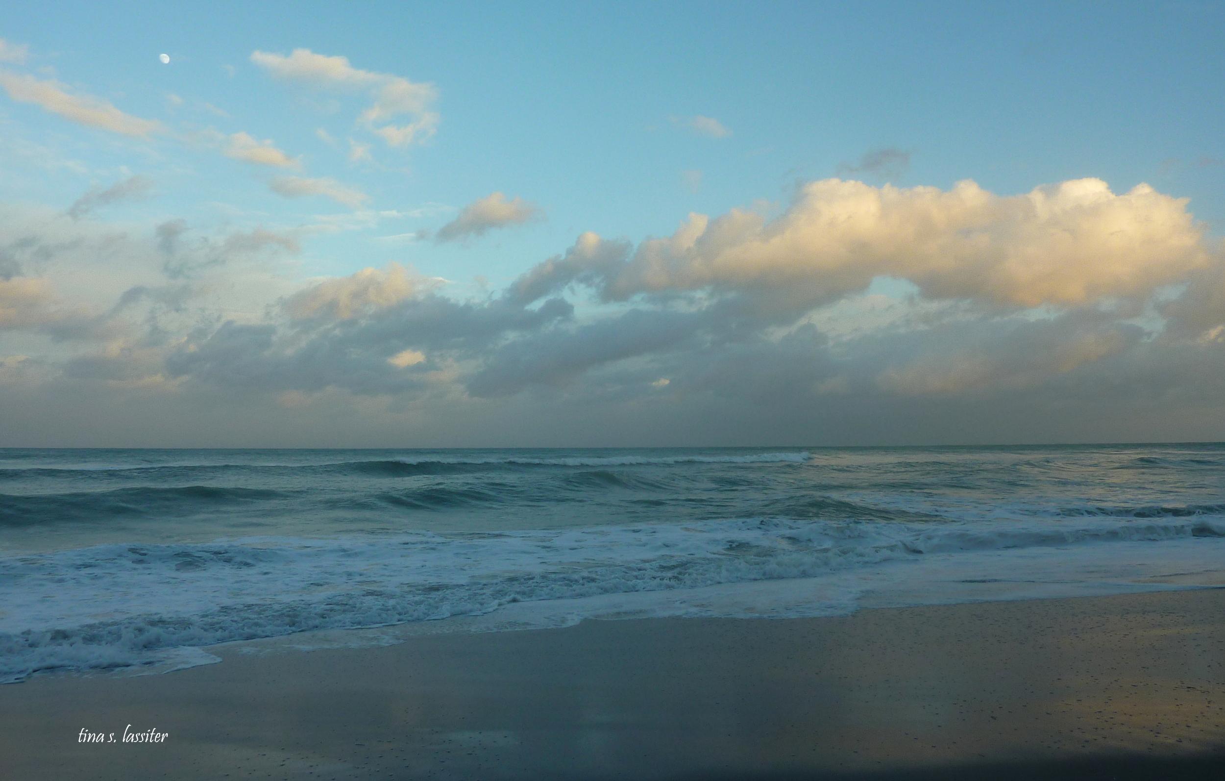 evening on hollywood beach