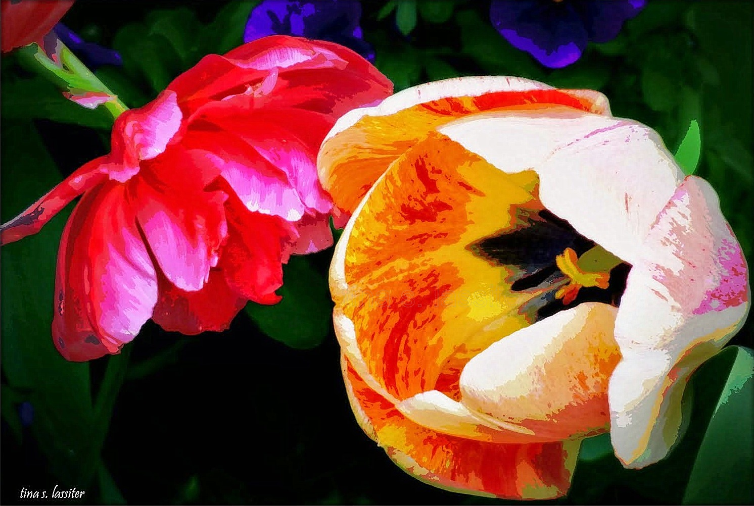 painted tulips 1