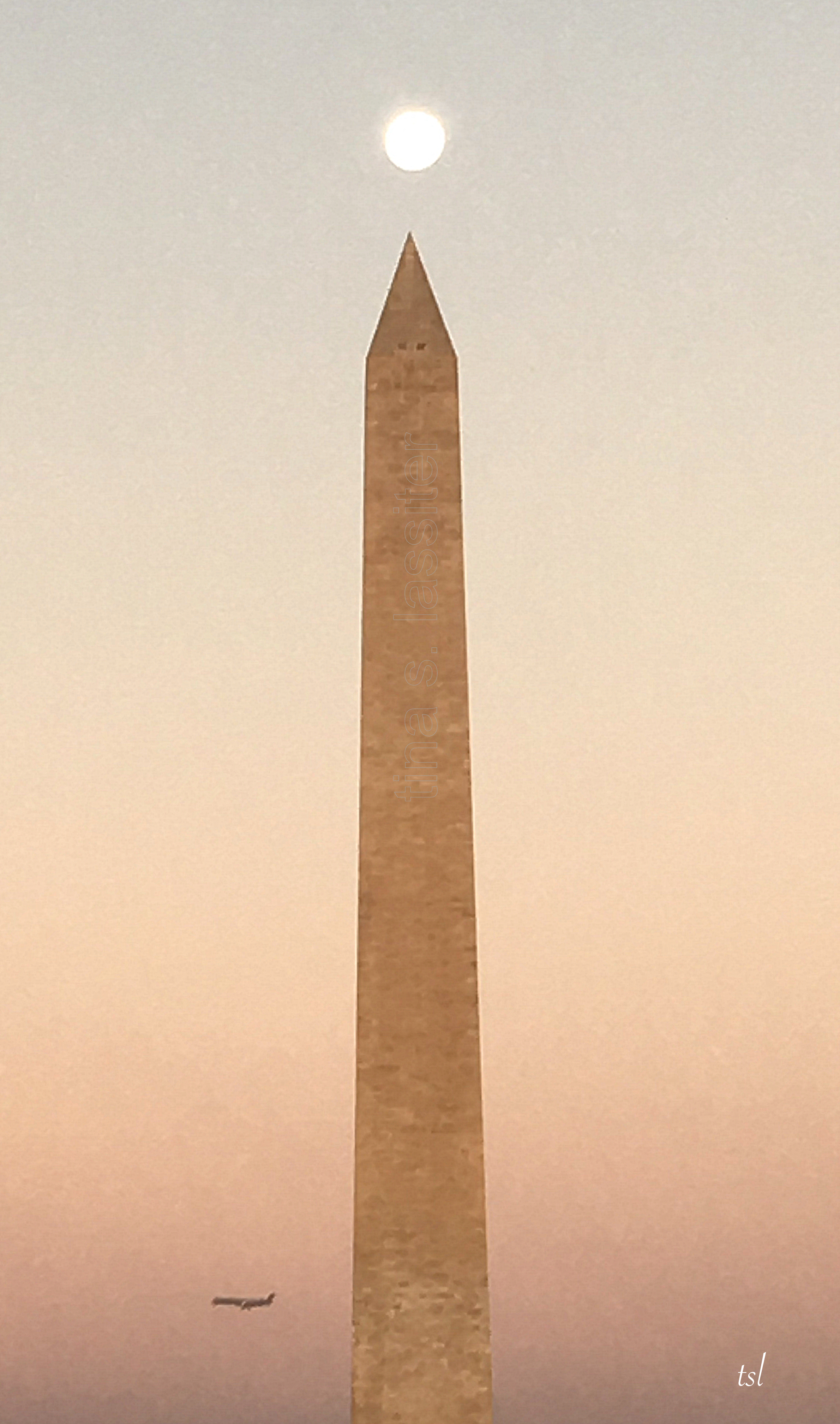 moon over monument