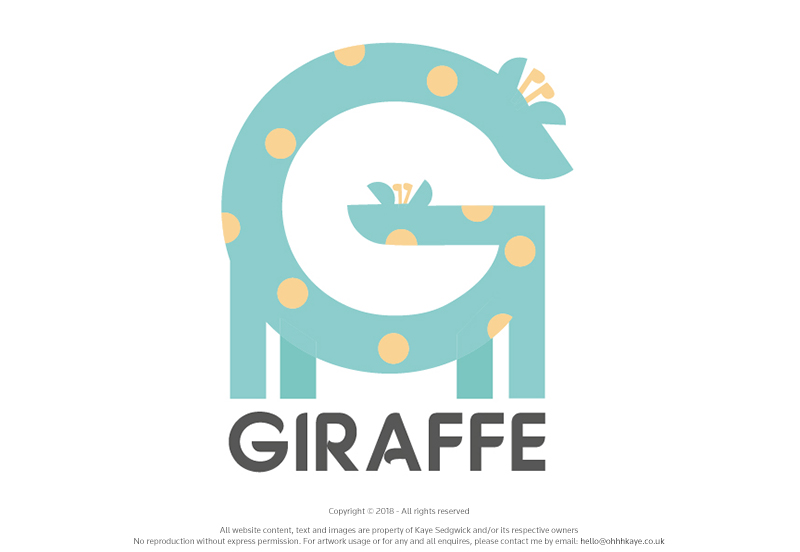 OhhhKaye Branding Logo Design Giraffe