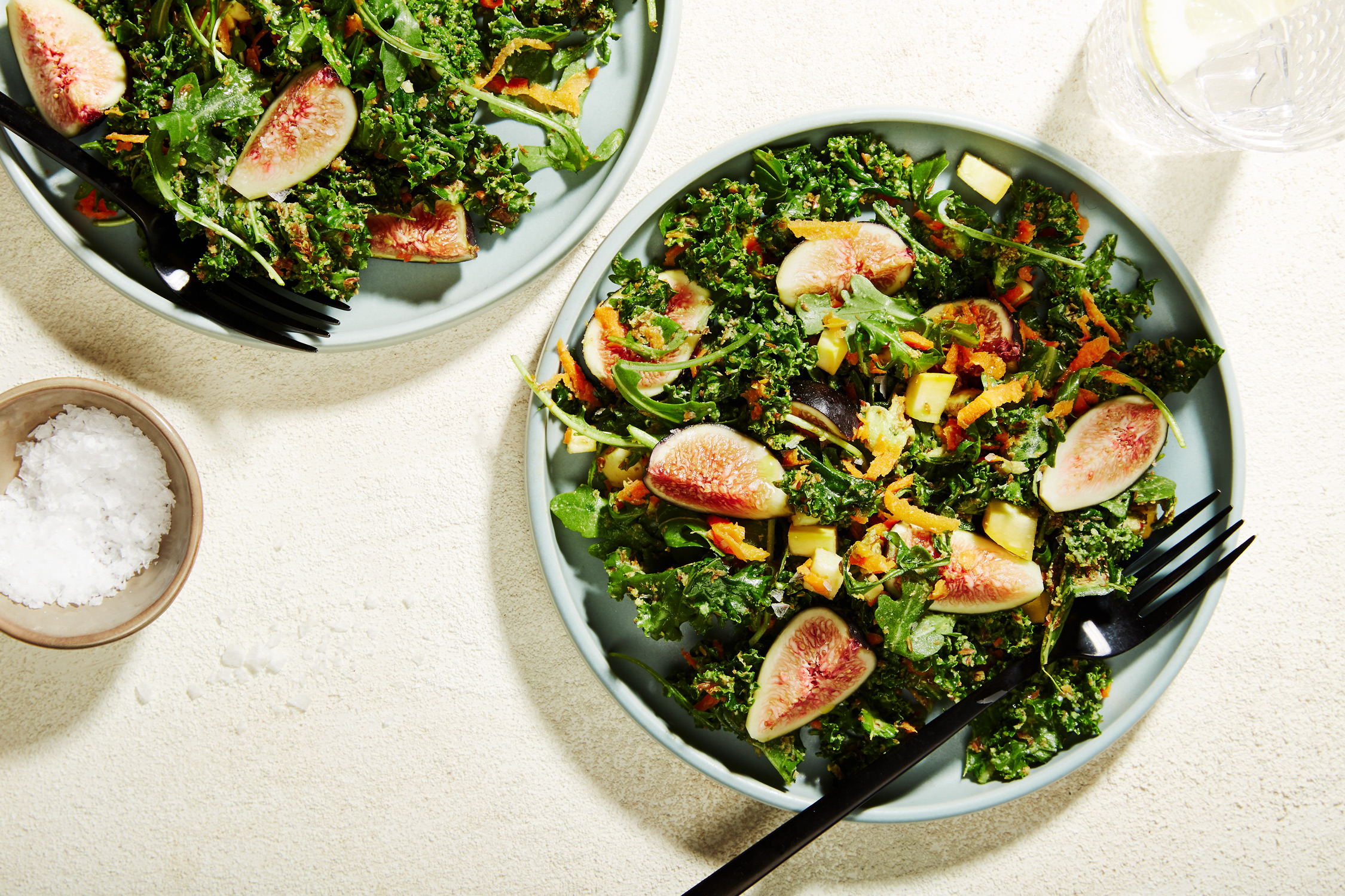 summery fig kale salad