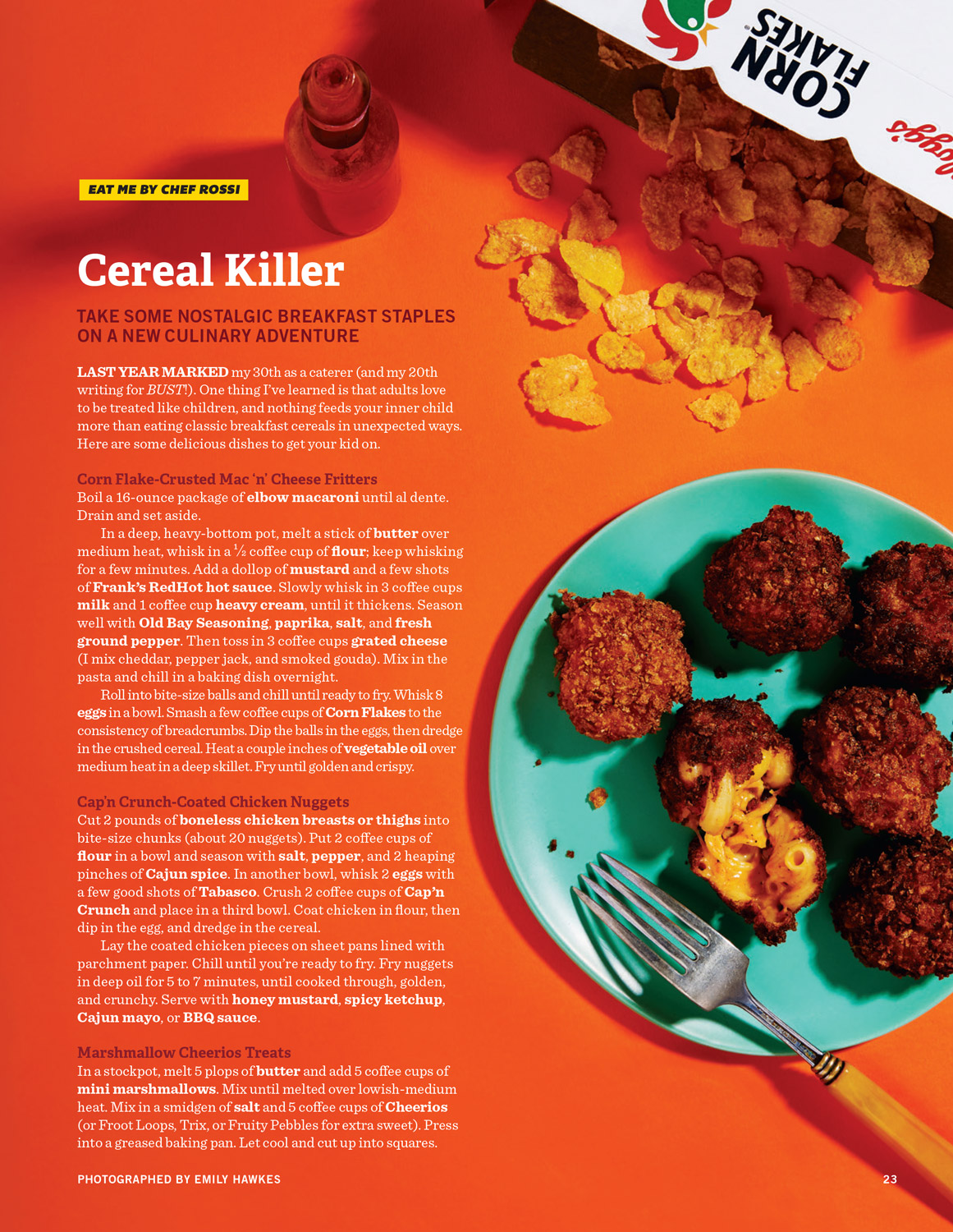BUST Magazine Cereal Recipe Feature