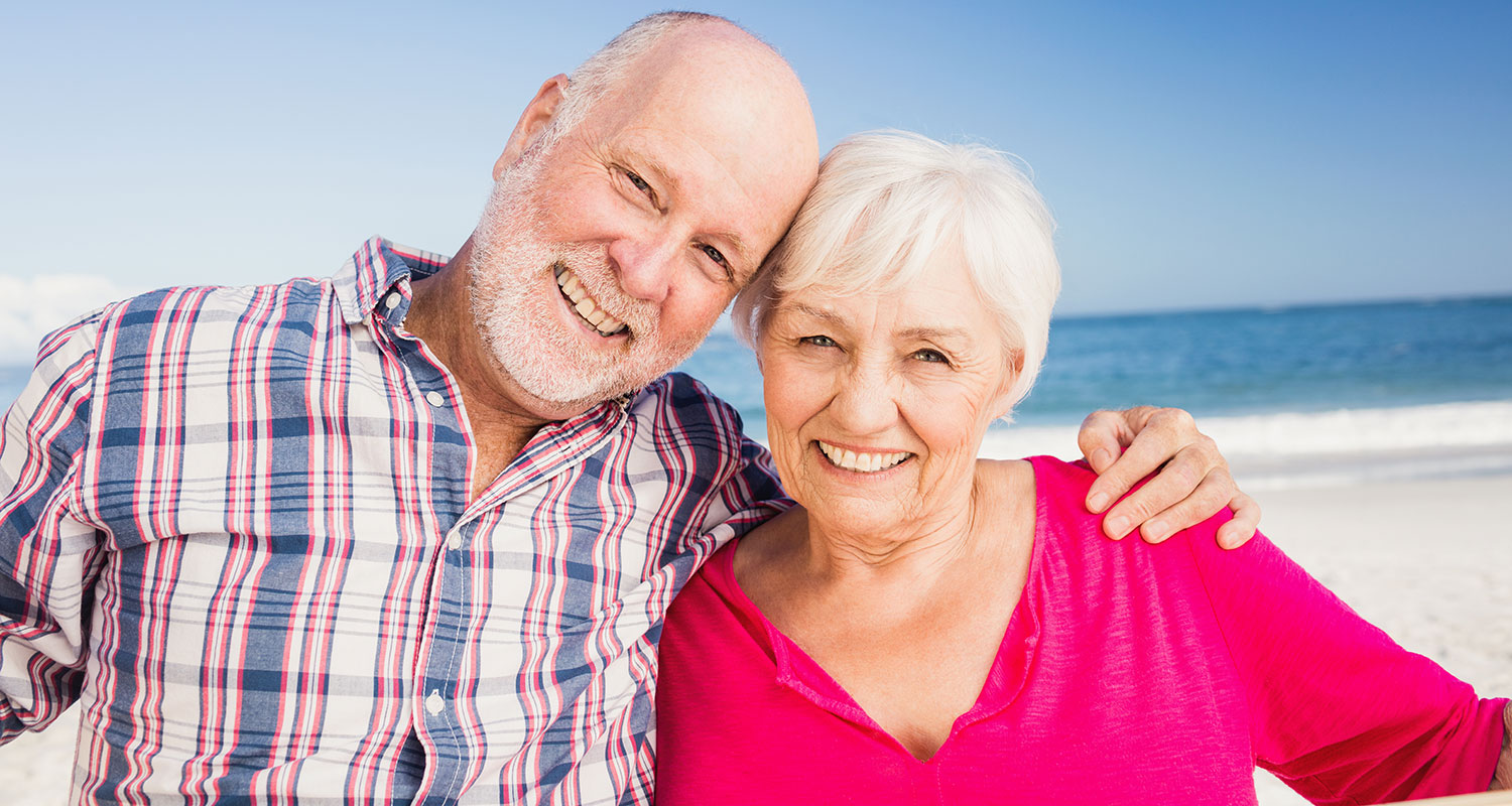 Older couple smiling photo