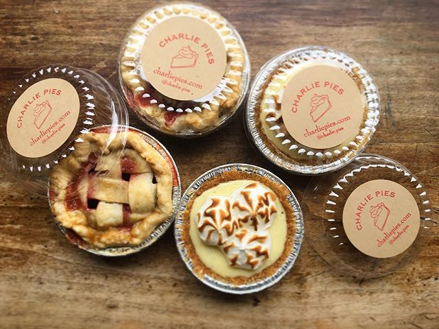 Honey, I shrunk the Pies! 🥧 We'll be waiting for you @tasteoftribeca tomorrow! While SupPIES last! @tasteoftribeca @thehideawaytribeca #supportourpublicschools #supportthearts #tasteoftribeca2018 #keylimecointreaumeringuepie #strawberrygingerpie #fundraiser #bakesalebenefit #childrenareourfuture #whitney #charliepies