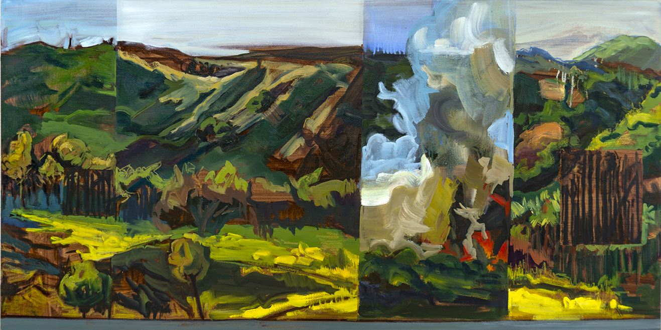 Valley Growth , oil on canvas, 24x48 inches, 2019