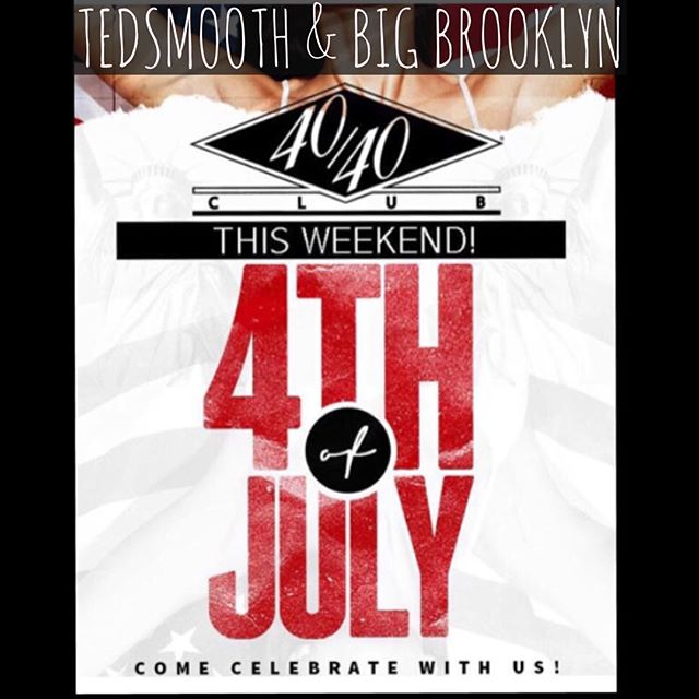 @the4040club Friday night 4th of July weekend action!! @djbigbrooklyn alongside yours truly. 🙌🏼