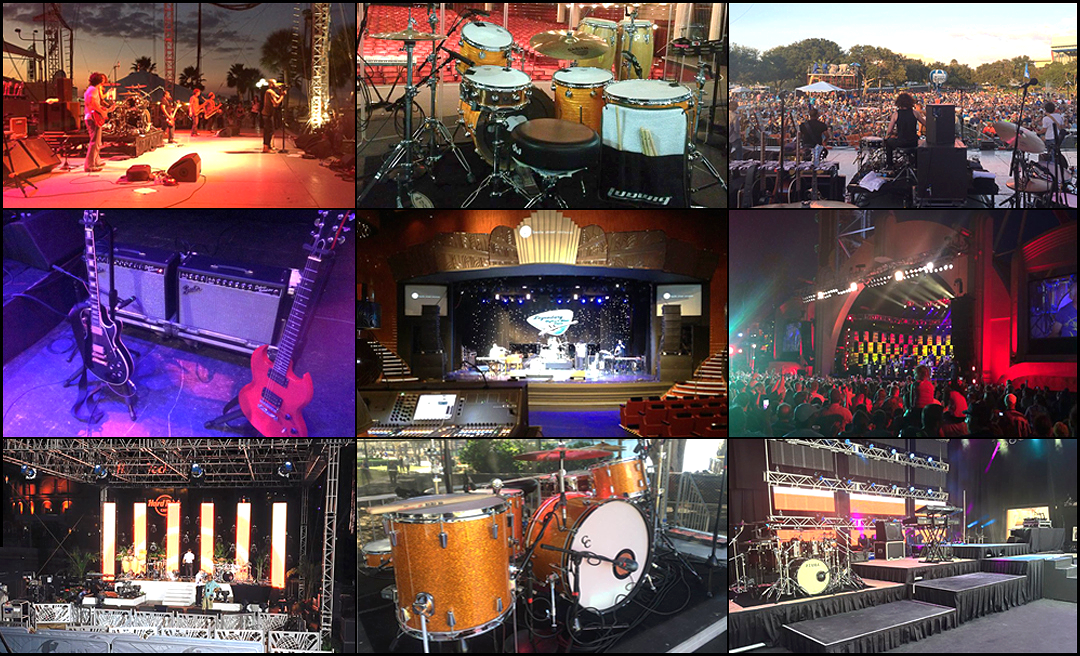 Backline services for festivals, concerts, arenas, private events, corporate events, outdoor festivals