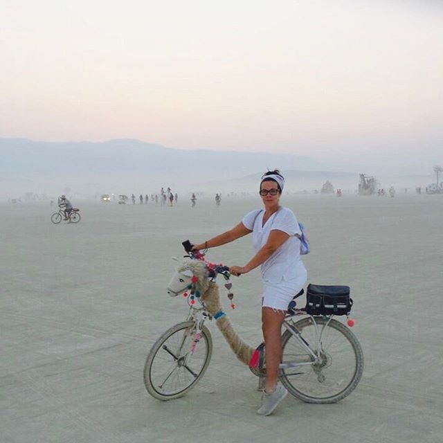 """In honor of @burningman starting tomorrow, I am reflecting on what a cathartic experience it was for myself. Truly an opportunity to abandon myself to an experience that scared the 💩 out of me. So if you have the chance to do something that scares you, DO IT! The """"it"""" doesn't have to be traveling cross country to a dusty piece of land covered in others seeking their own spiritual or life changing  experience, it can be something simple, that is different and  takes you out of your comfort zone. I know personally, I have missed out on experiences because I was worried about what others would think or if I would embarrass myself. Well, I know for sure 90% of the time I embarrassed myself but now I have learned to laugh and not take it all so seriously. I am learning to be scared and do it anyway. #embracetheuncertainty #burningman2019 #industwetrust #burningman2017 #bringontheburn #burningman"""