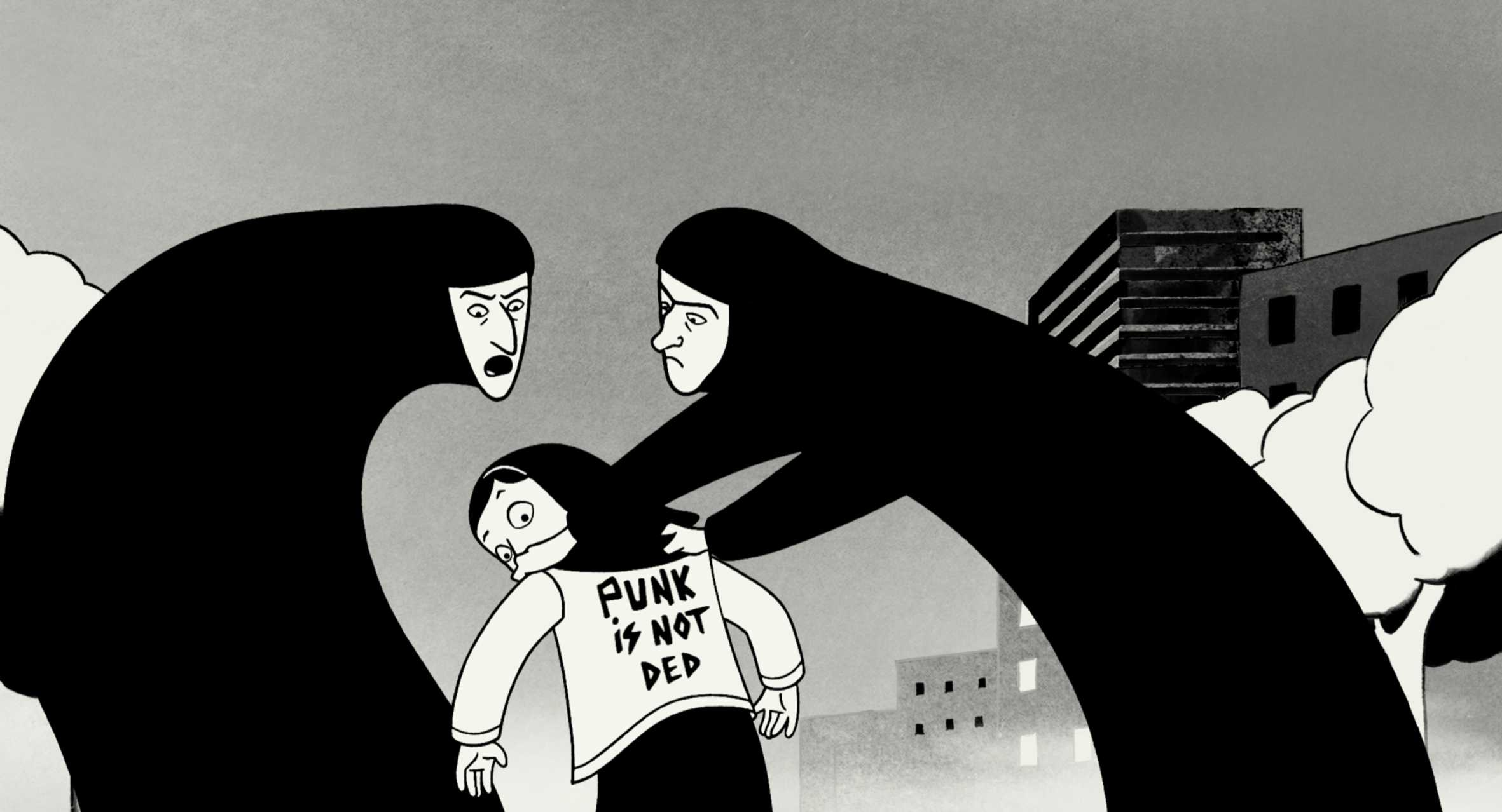 Persepolis, 2007, France & Iran. This movie should be watched by all who are interested in costume design to understand the impact outfits have in our lives.