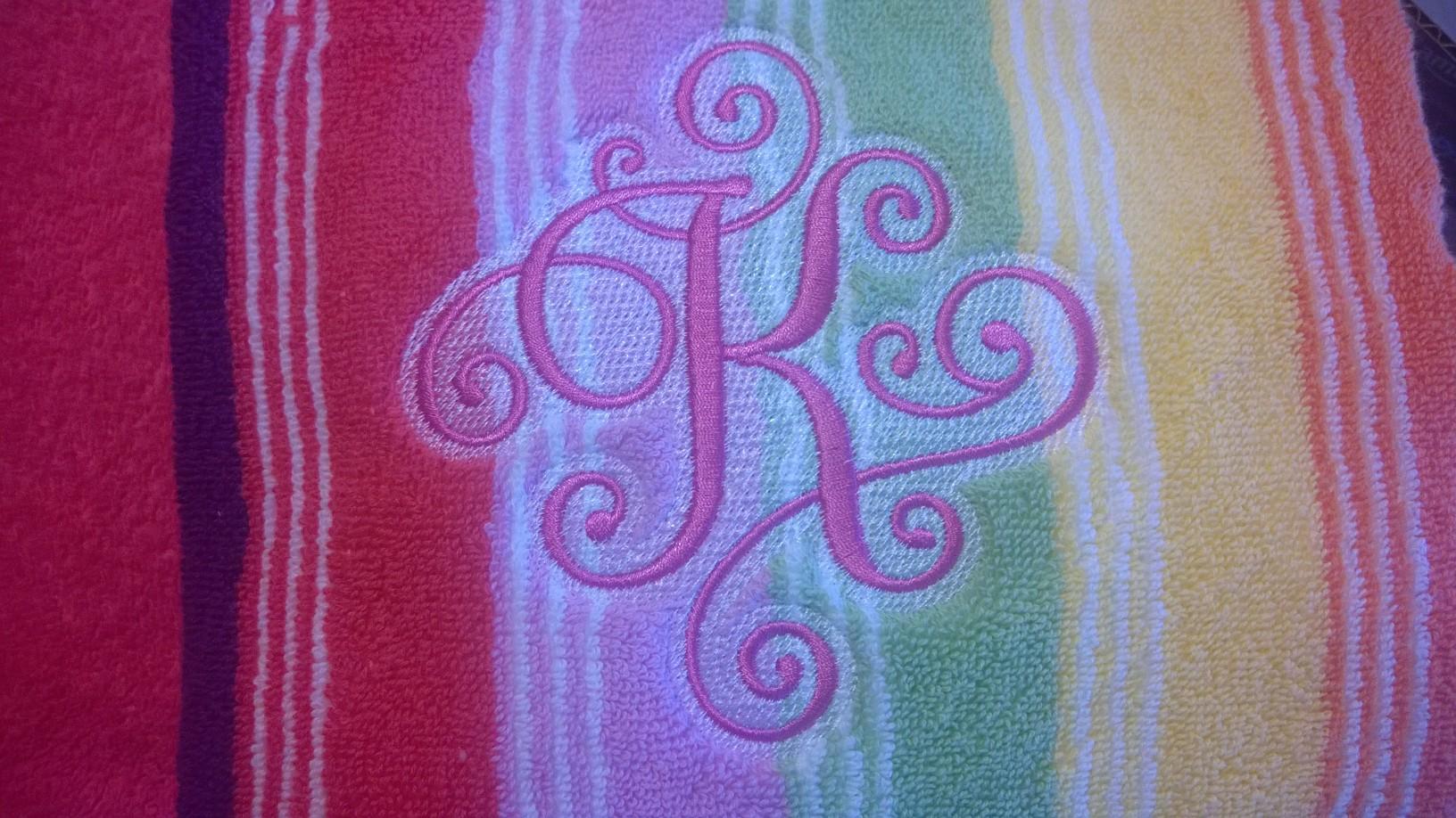 Towel-monogram