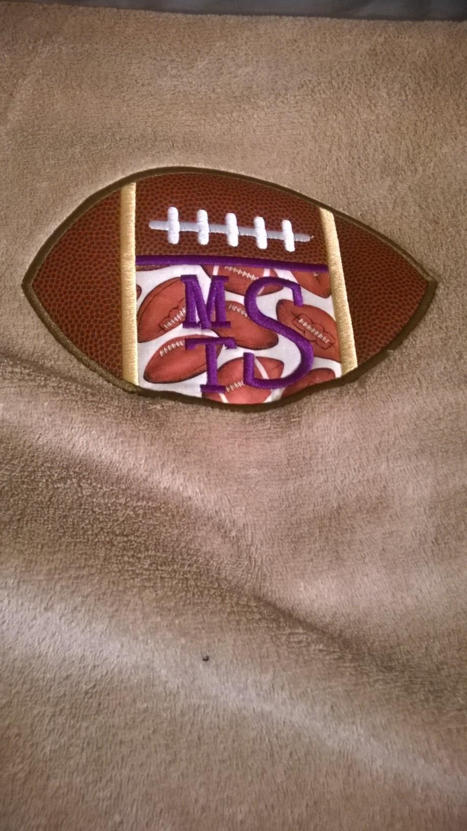 Blanket-football monogram