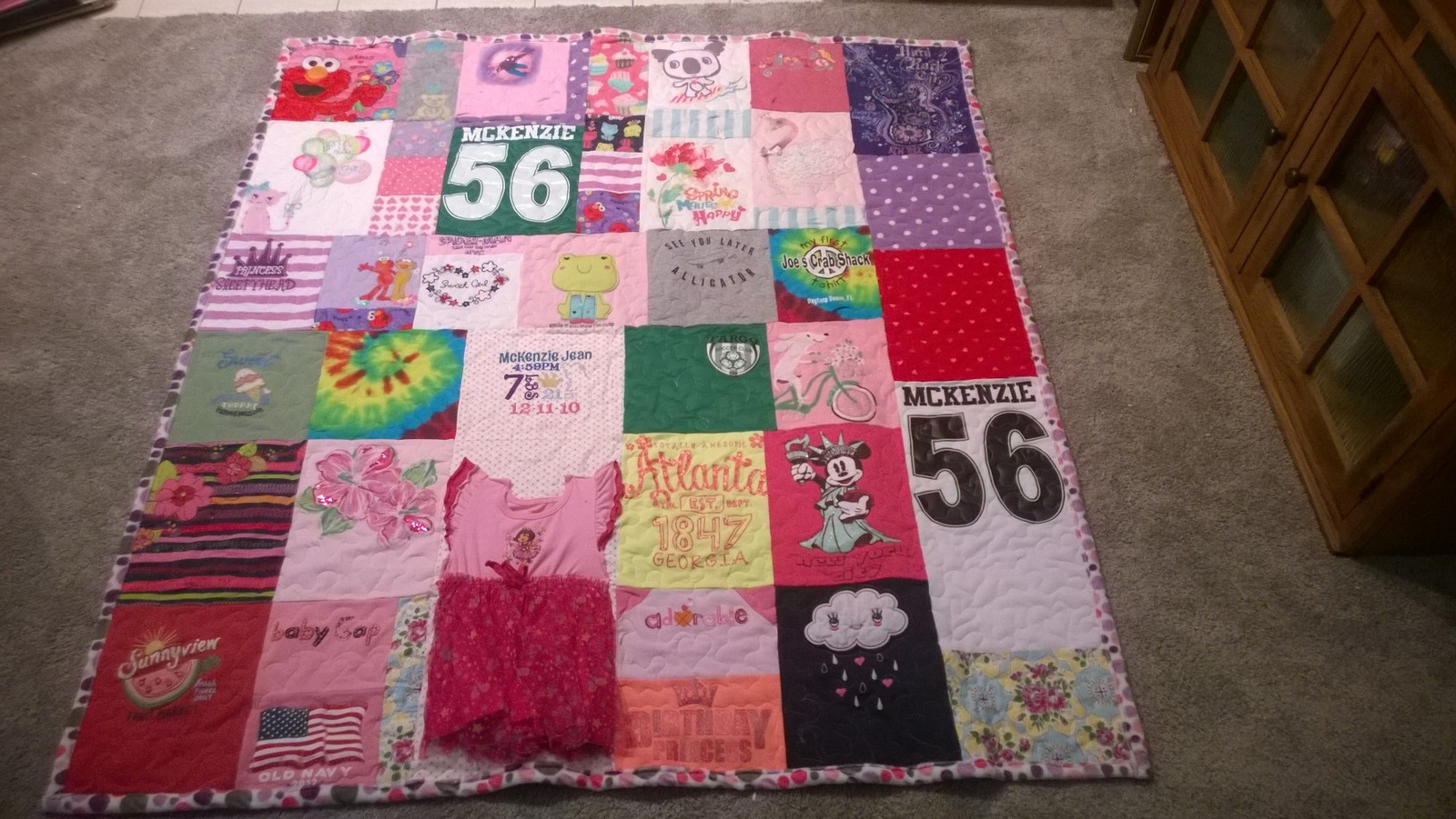 Quilt from clothing