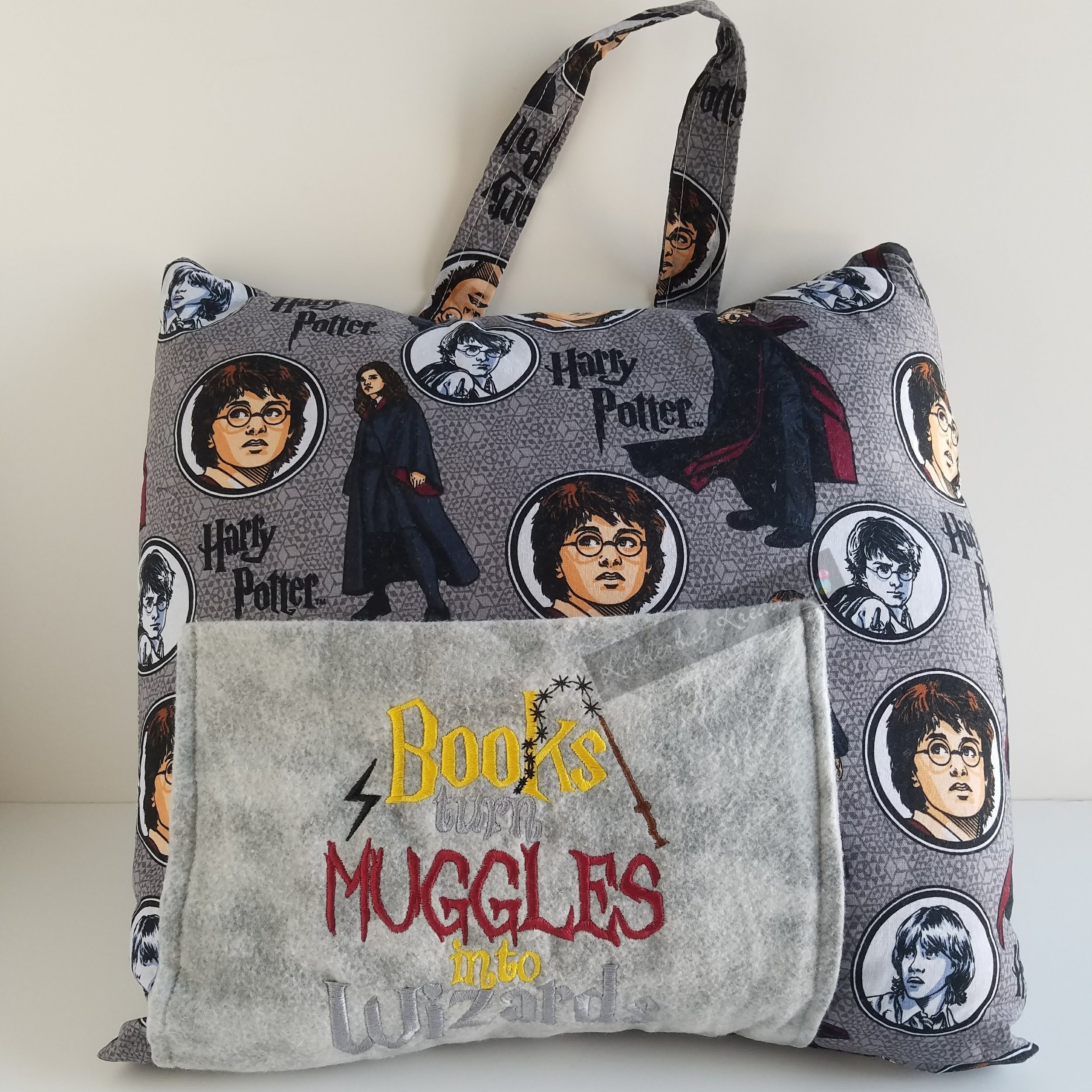 Muggles and Wizards Reading Pillow - 1. Both kids and adults will enjoy having a reading pillow to safely store the current Harry Potter book until they can resume their adventures.