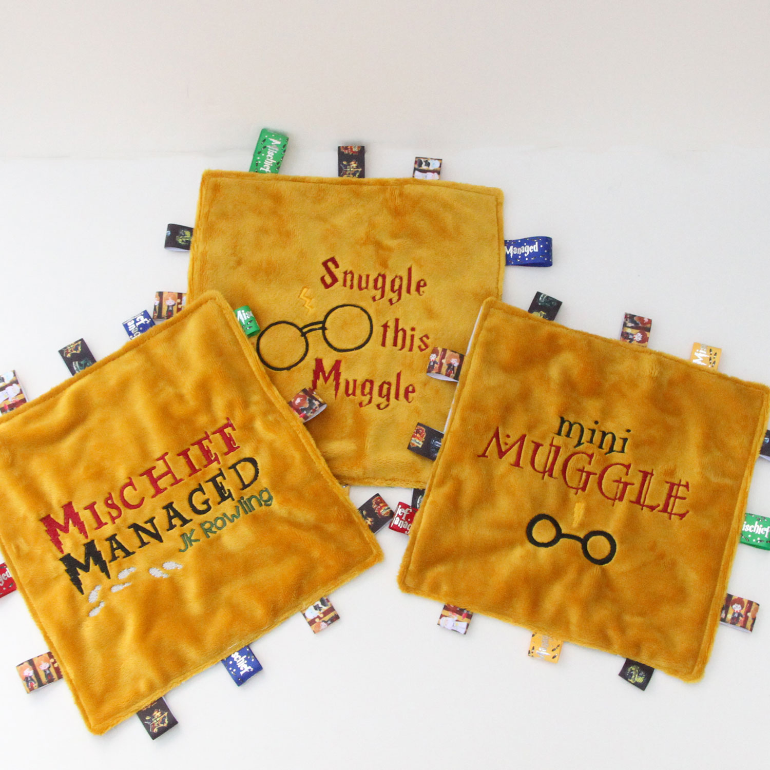 Sensory Blanket - Encourage your little muggle to explore different textures with an adorable sensory blanket.