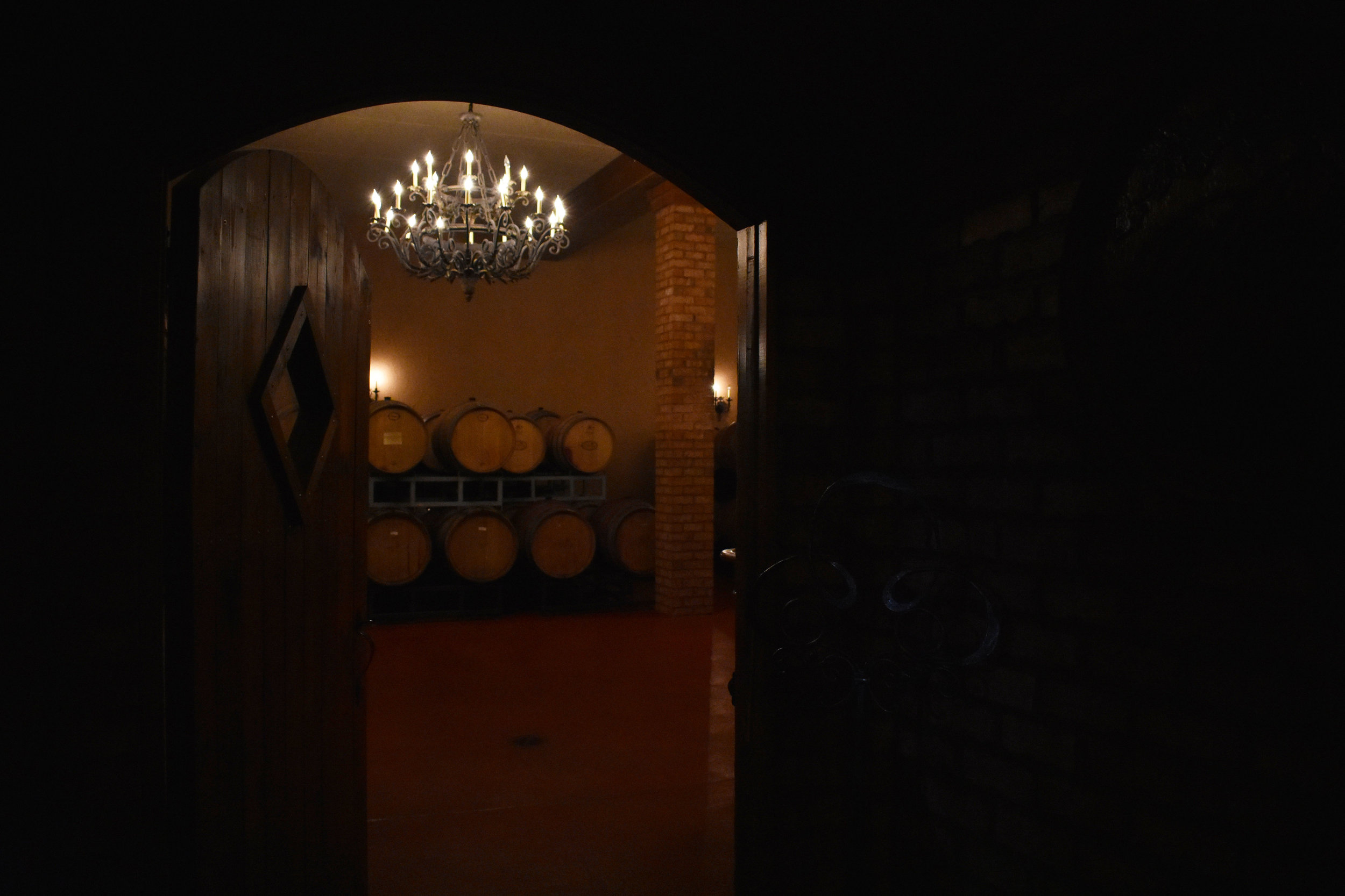 The cellar at Potomac Point Vineyard and Winery in Stafford, Va., is pictured Friday, Feb. 2, 2018. (Lindsey Leake/American University)