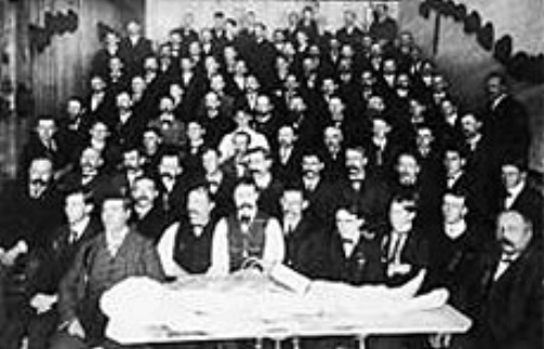 This file photo shows students in the Program of Mortuary Science at the University of Minnesota Medical School. The program is celebrating its 110th anniversary in 2018. (Courtesy Regents of the University of Minnesota)